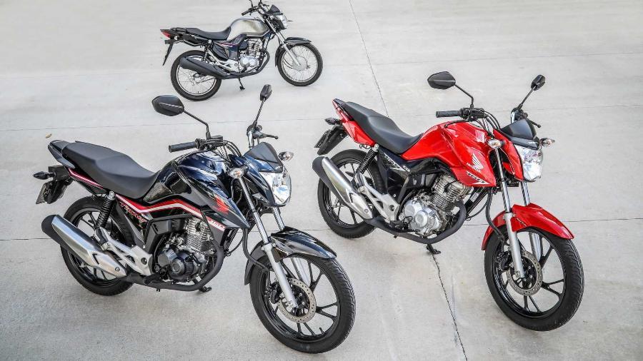 Honda CG: campeã de vendas também  na internet.