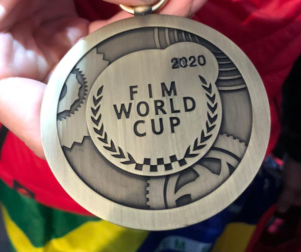 Bruno Crivilin  conquista a medalha de bronze no Mundial de Enduro.