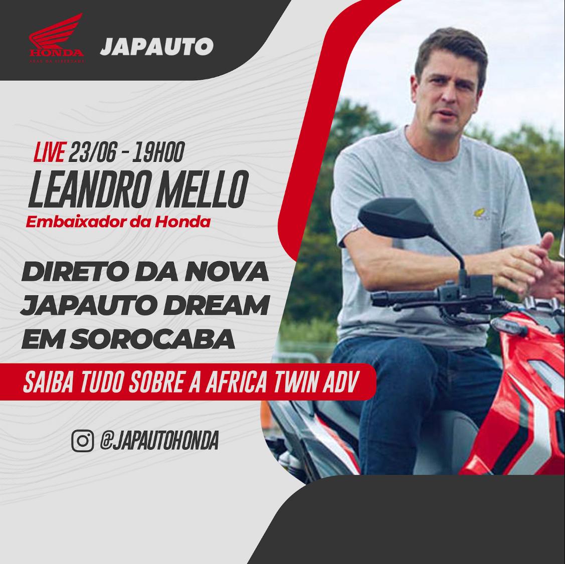 23/06 – Live com o piloto Leandro Mello sobre a Africa twin